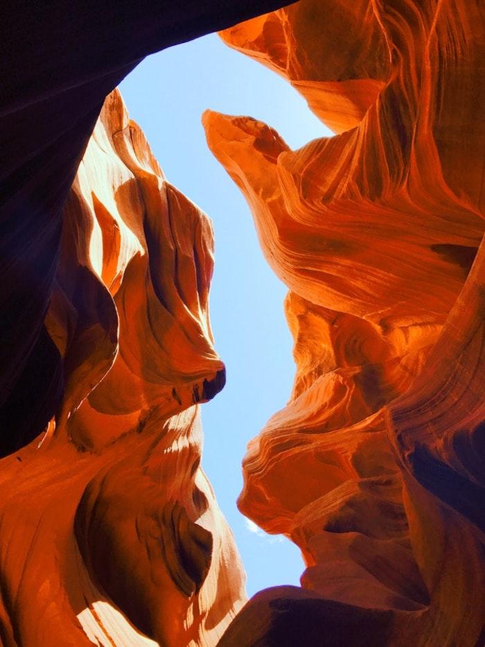 Le Canyon de l'Antilope, endroit extraterrestre sur la terre, paysage fantastique, image pour fond d écran magnifique