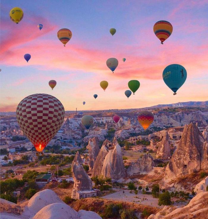 La Turquie, Cappadoce ballons colorés, les plus beaux pays du monde, photographie nature photo magnifique
