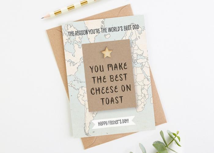 carte à imprimer et personnaliser pour la fête des pères, diy carte papa avec raison pourquoi je t'aime en papier cartonné