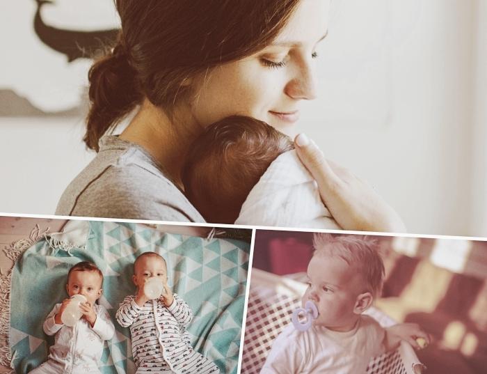 quels accessoires pour bébé, offrir un cadeau personnalisé pour naissance, modèle sucette personnalisée avec prénom