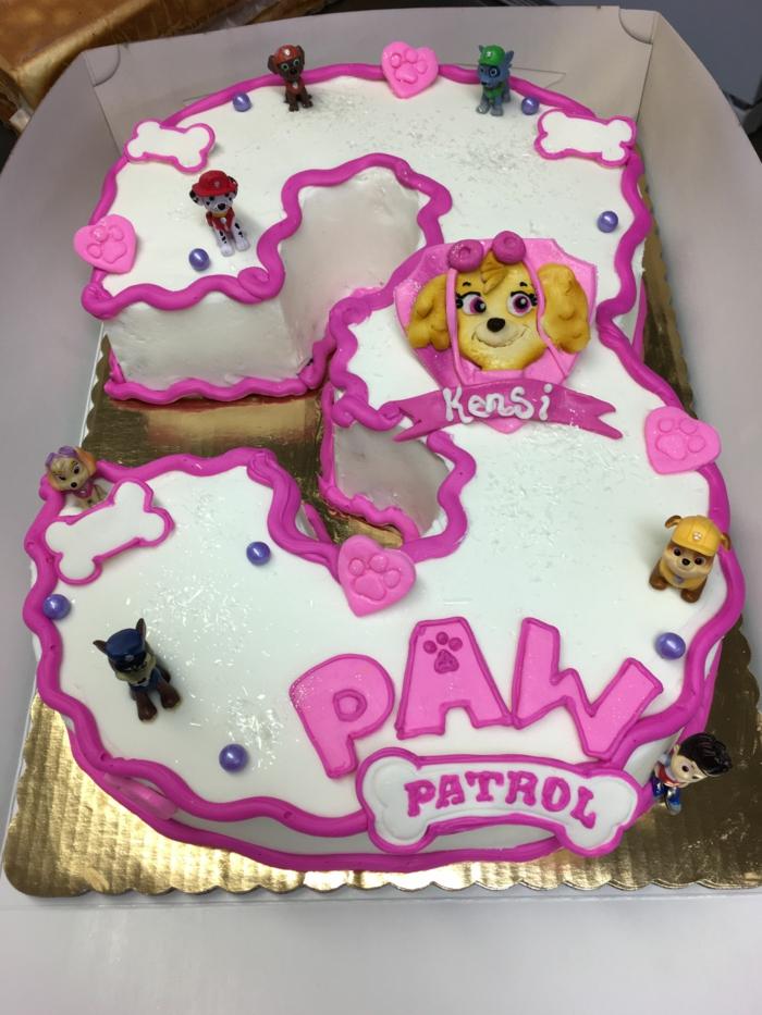 figurines pat patrouille, gateau anniversaire fille, chiens, figurines comestibles