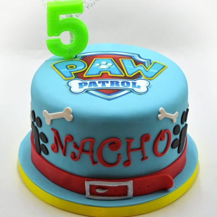 gâteau deco pat patrouille, gateau enfant de 5 ans, logo pat patrouille, gateau dessin pat patrouille