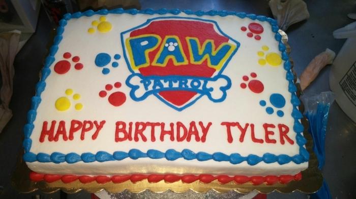 gâteau pat patrouille, design de gateau patte patrouille, gateau anniversaire design simple