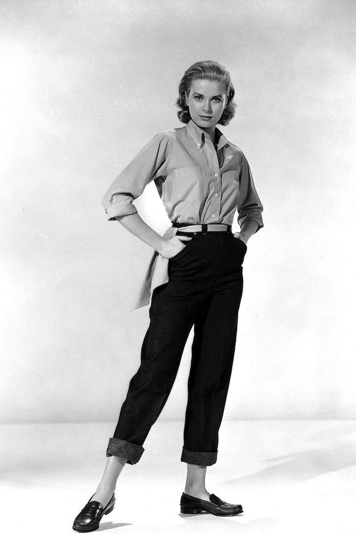 pantalon femme année 50