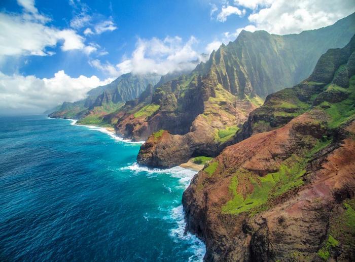 Hawaii Napali plage, magnifique vue de l'océan et les montagnes, le plus beau pays du monde, les plus beaux endroits de monde photo