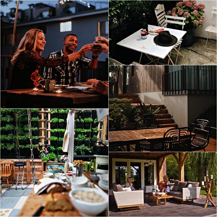 choisir une table jardin en fonction de l'usage et de l'espace, grande table de repas en bois pour les repas conviviaux dans le jardin ou sur la terrasse