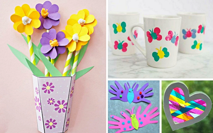 idée de cadeaux à fabriquer avec les enfants de la maternelle à l'occasion de la fête des mères 2019