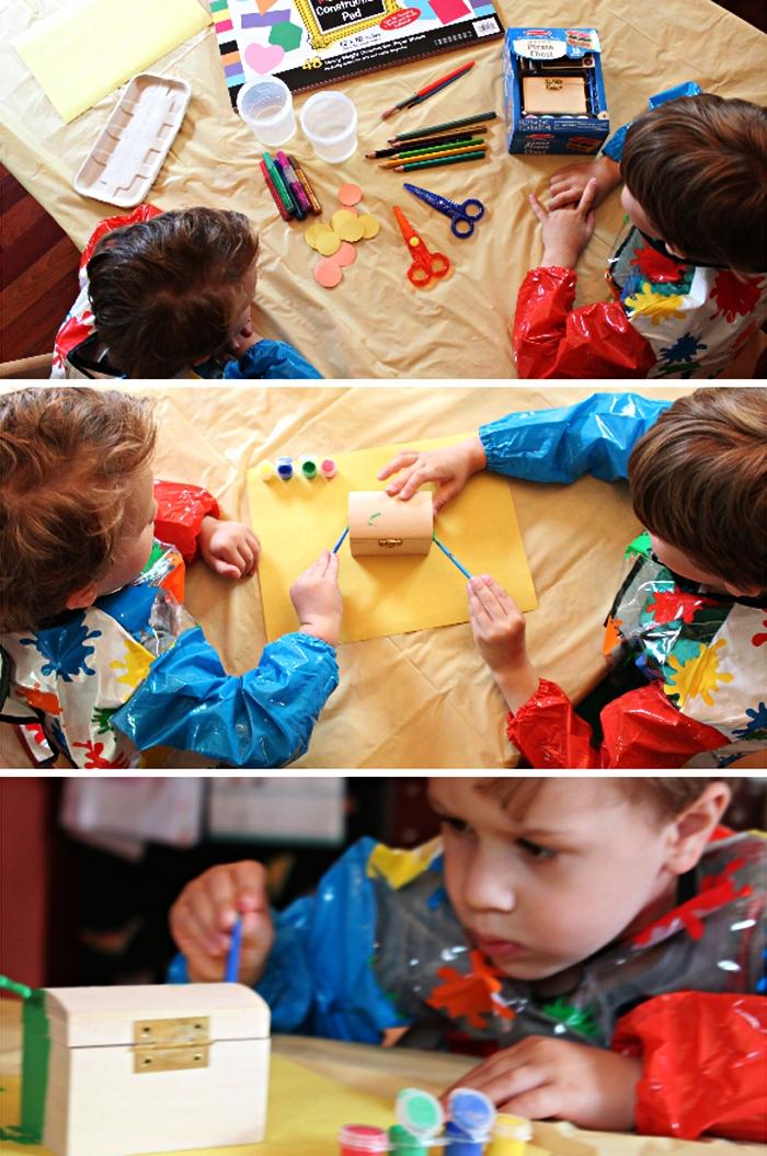 bricolage fête des pères facile pour les plus petits, faire un coffret à trésors rempli de petites notes pour souhaiter la fête des pères