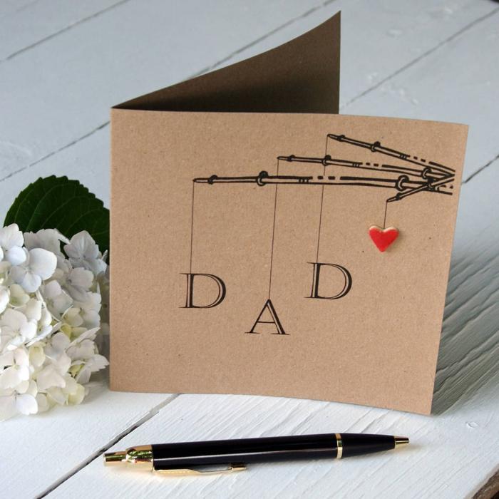modèle de carte à imprimer pour la fête des pères, idée bricolage facile et rapide, carte fete des peres imprimée