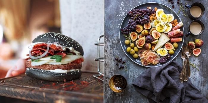 exemple de recette originale pour faire un burger américain avec ou sans viande, idée menu pour un barbecue jardin