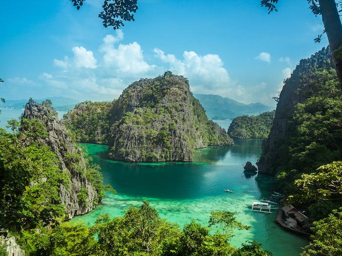 Les philippines ile magnifique avec bleu vert eau et beaucoup de verdure, les plus belles photos du monde, fond d'écran paysage photo magnifique