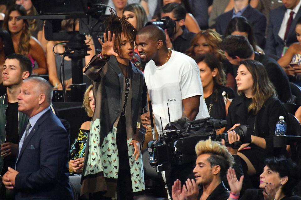 photo de Kanye West et Jaden Smith, futur premier rôle de la prochaine série Omniverse de Showtime