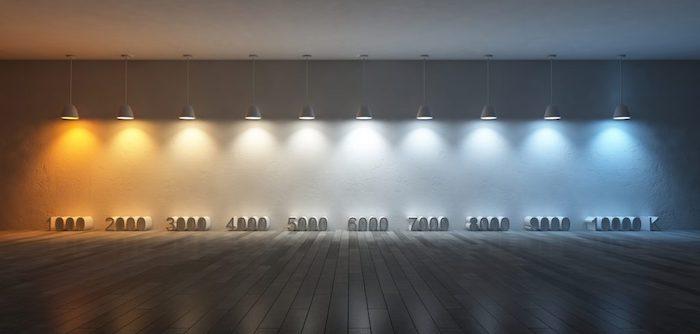Choisir son ampoule LED, quelle couleur vous voulez pour quelle chambre, LED température de couleur, blanc chaud à blanc froid