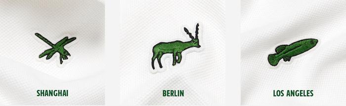 Collection série limitée Lacoste Save Our Species 2019 à Shangai Berlin et Los Angeles