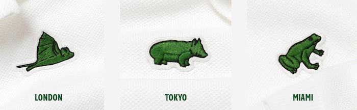 Série limitée de polos Lacoste Save Our Species Londres, Tokyo et Miami