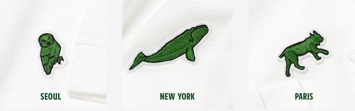 """Polos Lacoste """"Save Our Species"""" pour Séoul, New York et Paris"""
