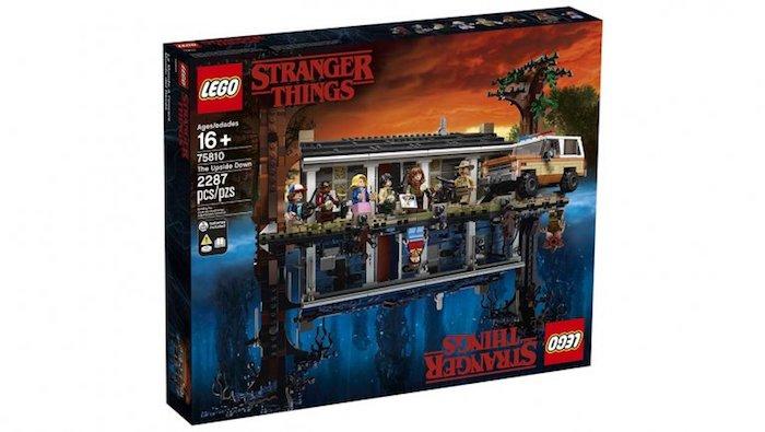 Boite Lego Stranger Things, nouveau set de lego magnifique idée Upside down world et monde des caractères de stranger things
