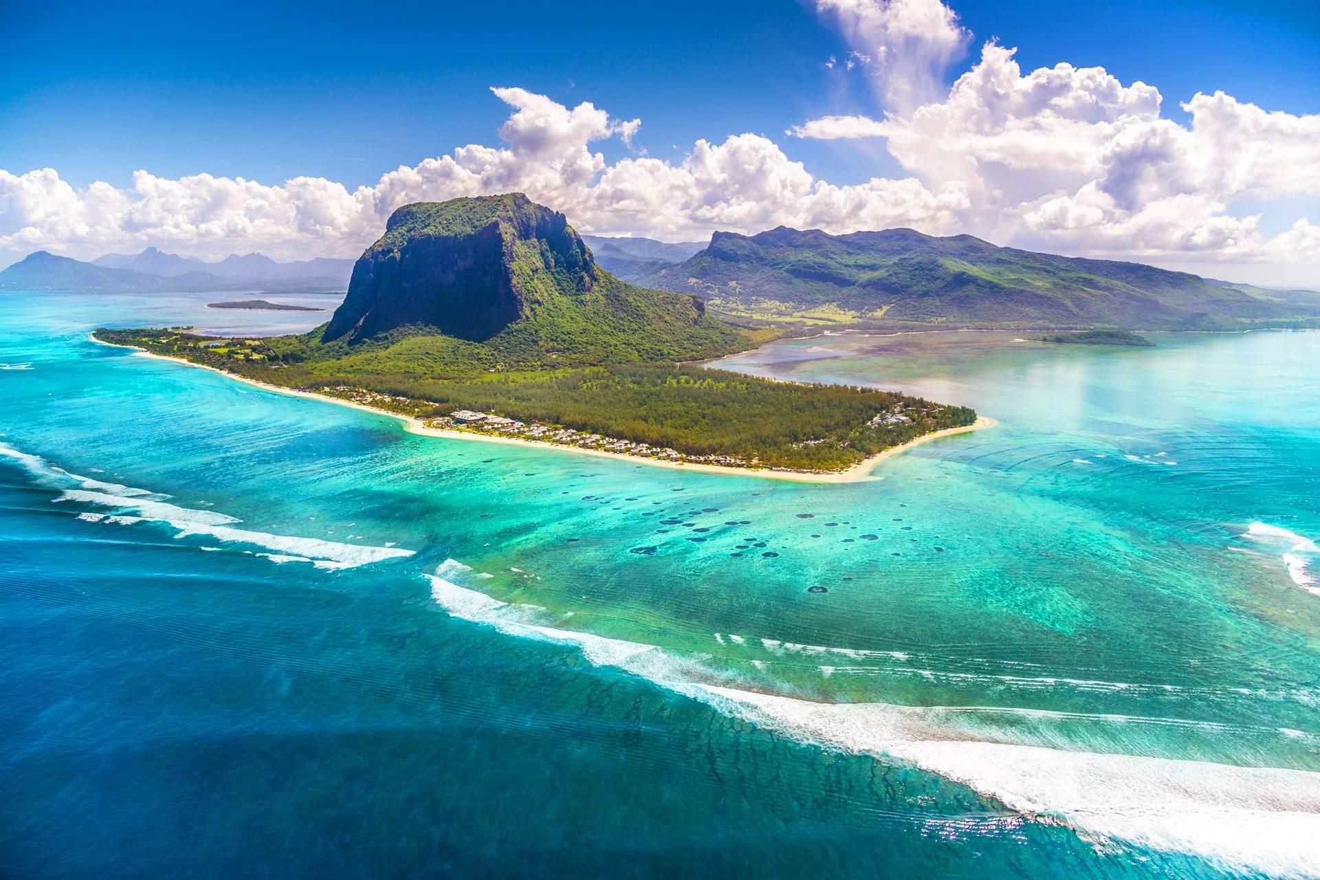 île Maurice vue de l'haut, paysage magnifique, paysage fantastique, la nature magnifique du monde, la terre est un paradis
