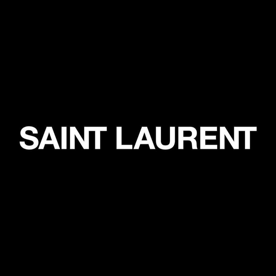 logo de la marque Saint Laurent qui a choisi Keanu Reeves pour présenter la prochaine collection automne hiver 2019