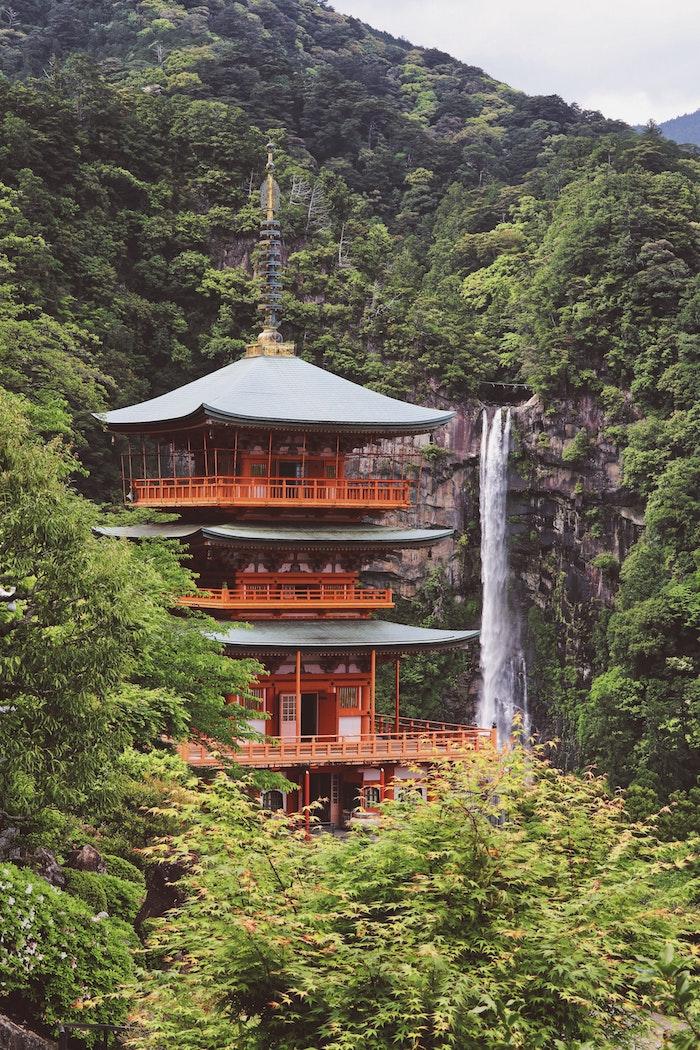 Japon paysage, images paysages, les plus belles photos du monde, chute d'eau foret asiatique