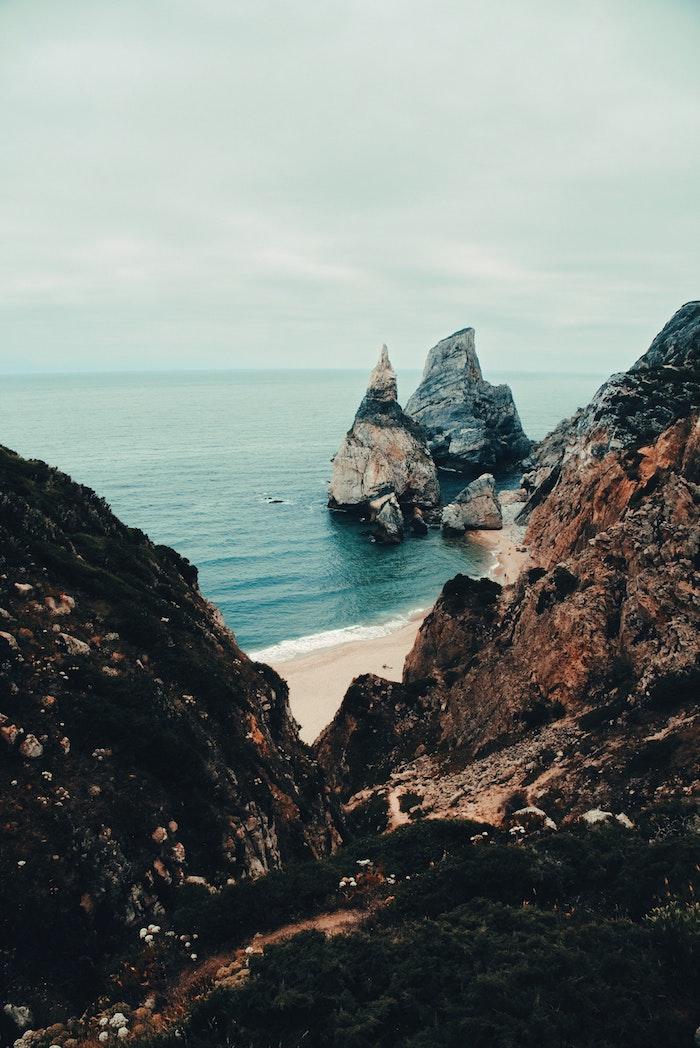 Portugal les plus belles photos du monde, paysage japonais, le plus beau paysage plage avec rochers