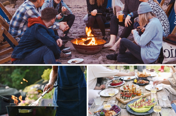 idée barbecue party dans le jardin, recettes de la cuisine américaine pour une soirée barbecue entre amis sur le balcon ou dans la cour arrière