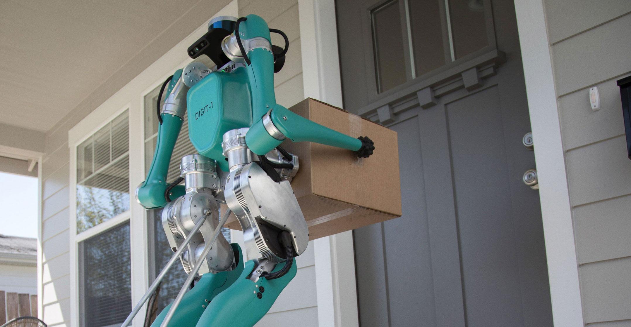 Ford et Agility Robotics ont développé le robot Digit capable de livrer des colis à domicile de manière autonome