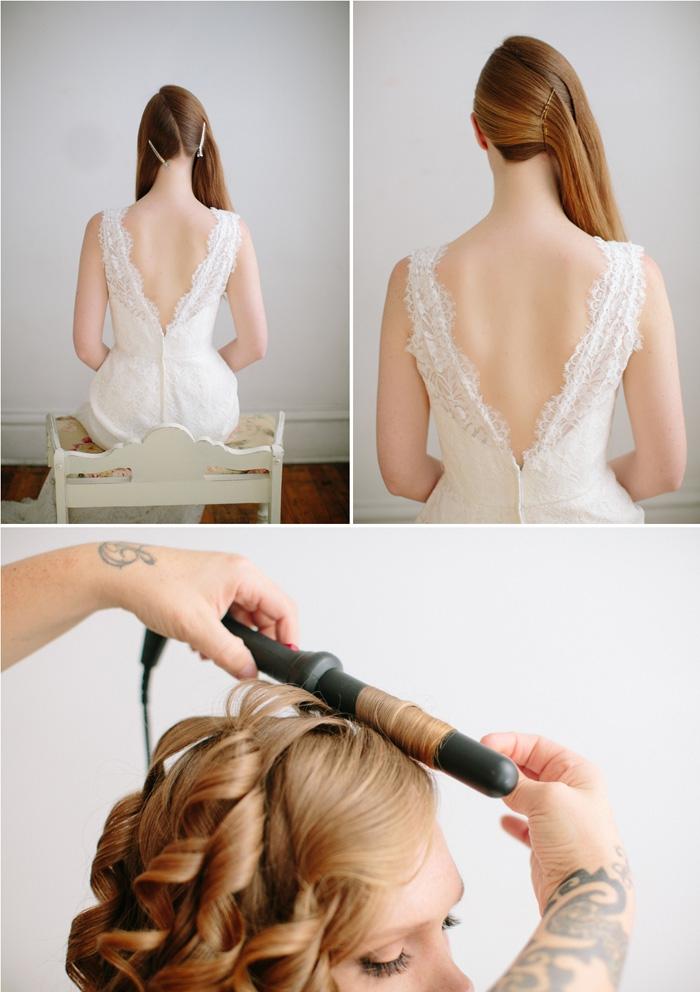 coiffure simple et rapide à réaliser soi-même, idée comment porter ses cheveux longs lâchés de côté avec boucles