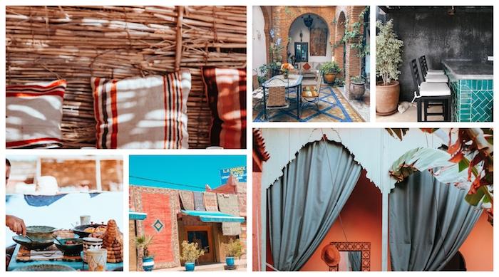 La décoration marocaine, inspiration de maisons à Maroc, déco berbère, chambre style bohème chic, idée comment décorer