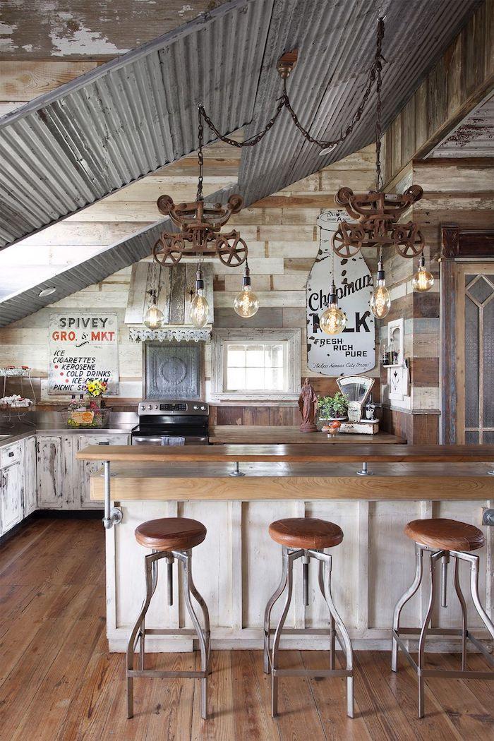Deco vintage, maison de campagne ou appartement de ville au style industriel avec touches rétro, cuisine vintage cool