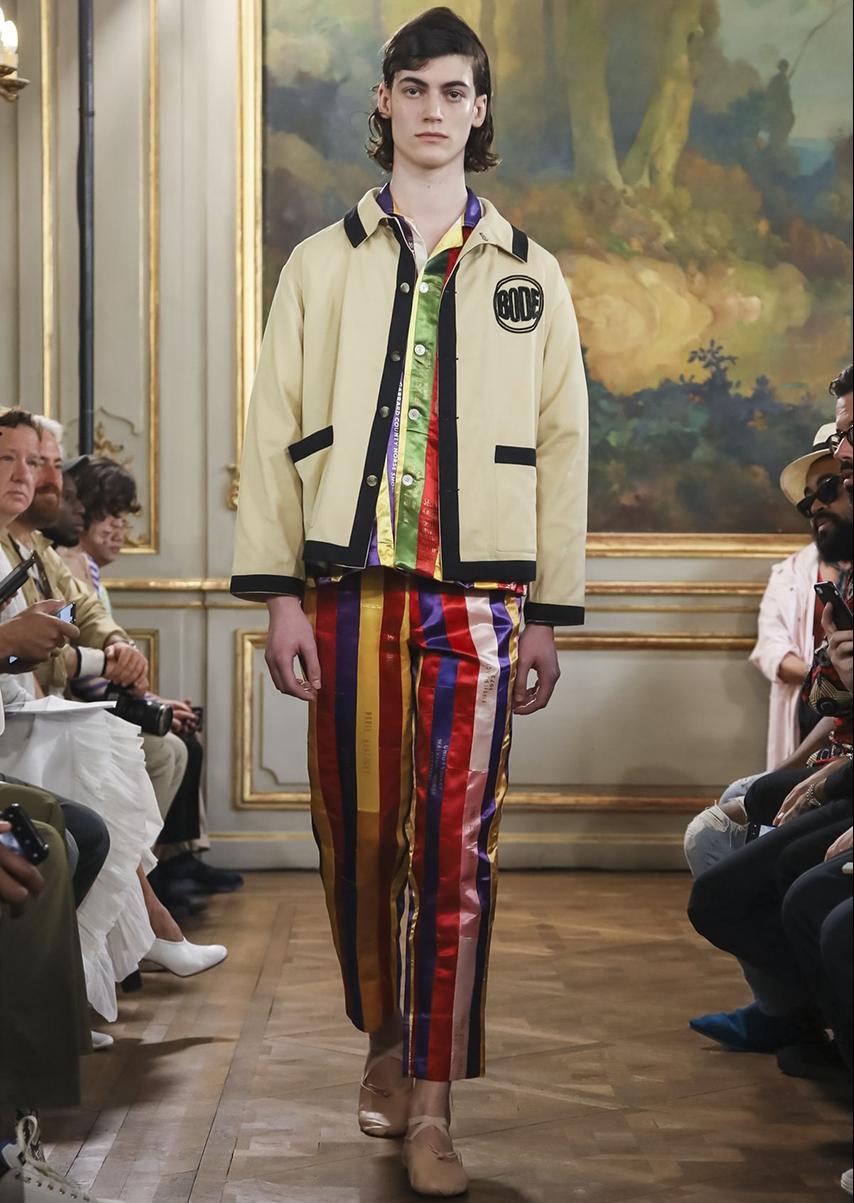 Emily Adams Bode a présenté la collection de sa marque Bode NYC à la fashion week SS19 de Paris