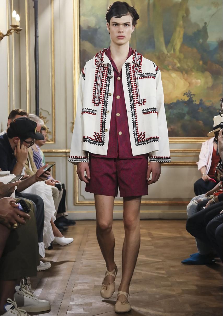 La marque de New-York Bode, lancée en 2016 par Emily Adams Bode fait ses premiers pas à la fashion week masculine SS19 de Paris