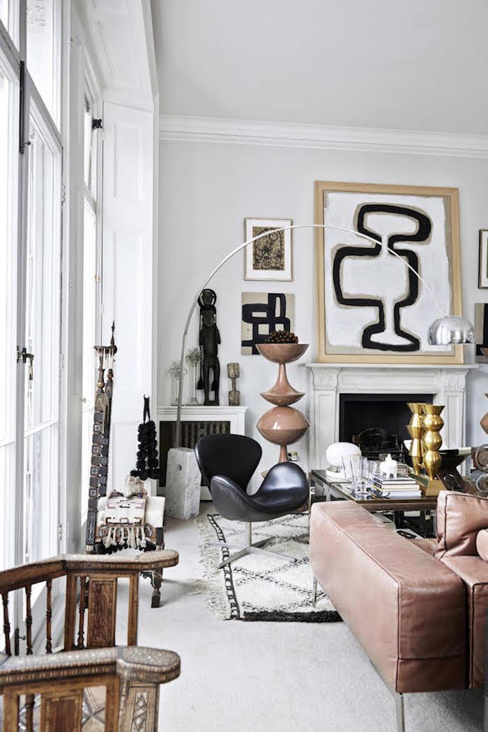 Idée comment décorer son salon, coussin boheme, tapis style berbere, scandinave maison
