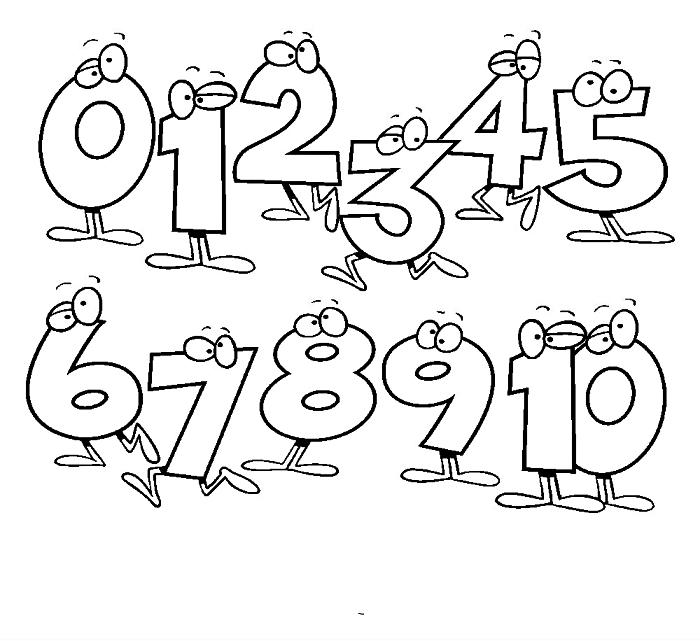 coloriage éducatif pour apprendre les chiffres aux enfants, dessin à colorier pour enfants avec les chiffres