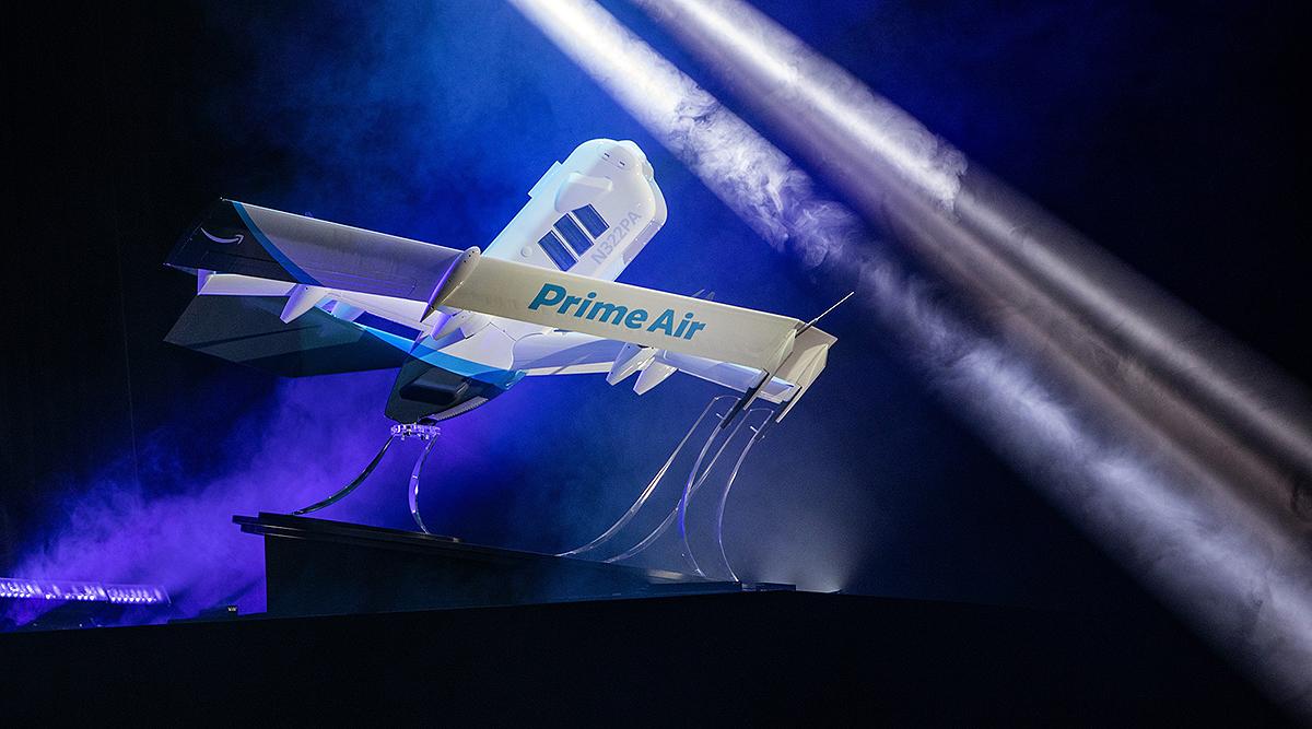 Durant la Re:Mars, Jeff Wilke et Amazon ont présenté le nouveau drone de livraison autonome du projet Prime Air