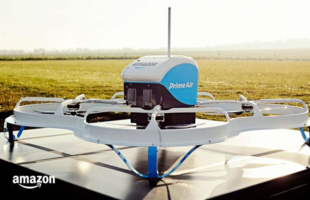 Photo de drone Prime Air présenté par Amazon et Jeff Wilke lors de la Re:Mars 2019 de Las Vegas