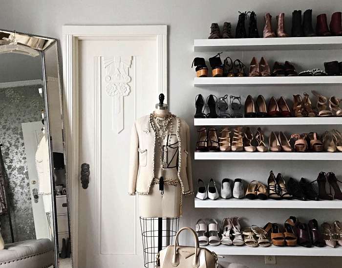 ✿ ▷ 1001 + idées pour aménager un dressing à chaussures