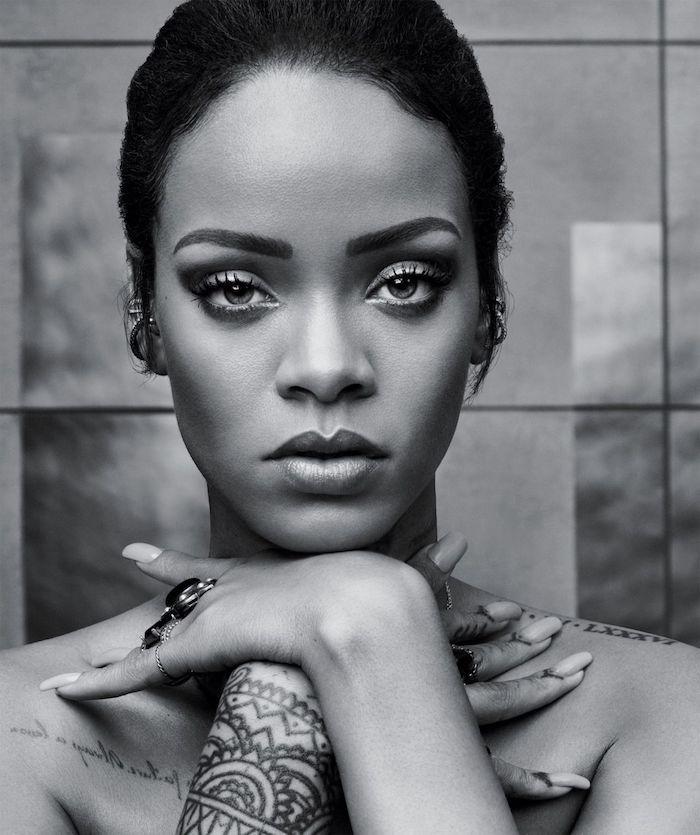 Photo swag de Rihanna, photographie noir et blanc, image swag pour fond d'écran original