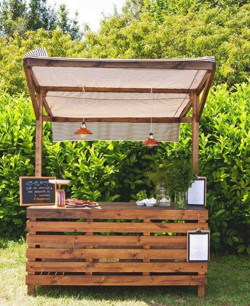 bricolage meuble extérieur matériau bois resistant bar diy