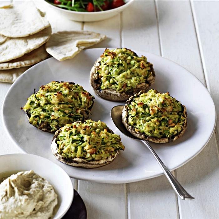 recette de chapmignons farcies aux courgettes en apéro, recette amuse-bouche facile et rapide, recette a base de courgette