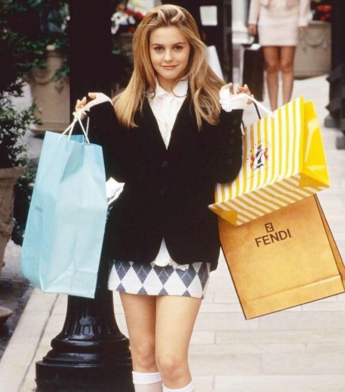 Clueless personnage stylée fille qui aime le shopping, les collégiennes de Beverly Hills film fille tenue swag, image de fond d'écran swag