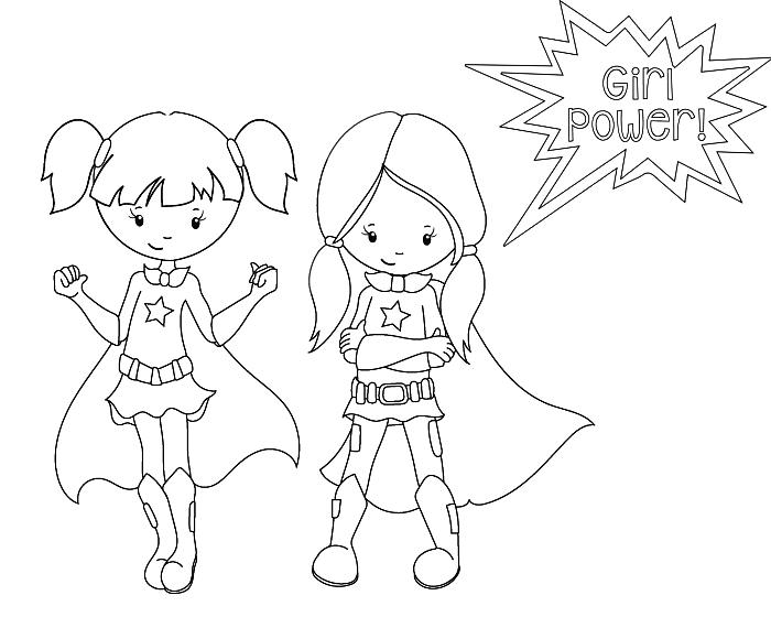 activité de coloriage en ligne sur le thème super-héros, dessin à imprimer pour coloriage enfant, coloriage à dessin super-héroïnes