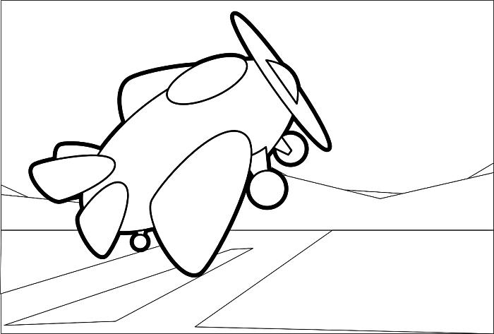 coloriage garçon sur le thème des avions, coloriage petit avion à imprimer gratuitement, dessin à colorier avion