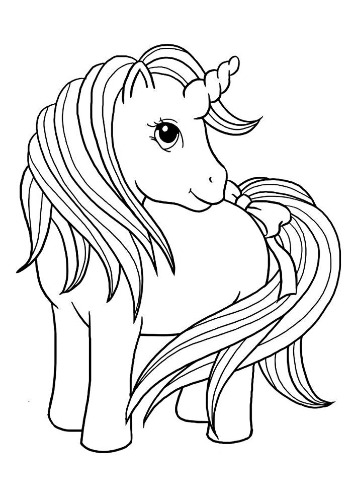 coloriage maternelle mon petit poney, dessin gratuit à colorier licorne de my little pony, coloriage licorne pour enfants