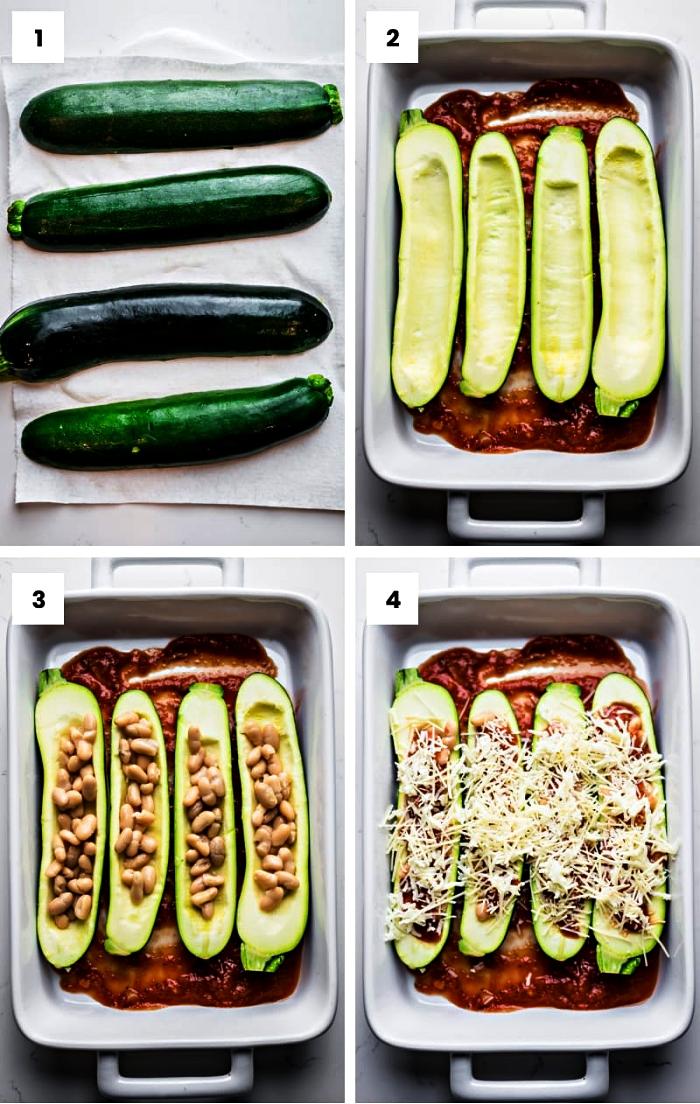 comment cuisiner des courgettes farcies, recette de courgettes farcies aux haricots blancs et au parmesan