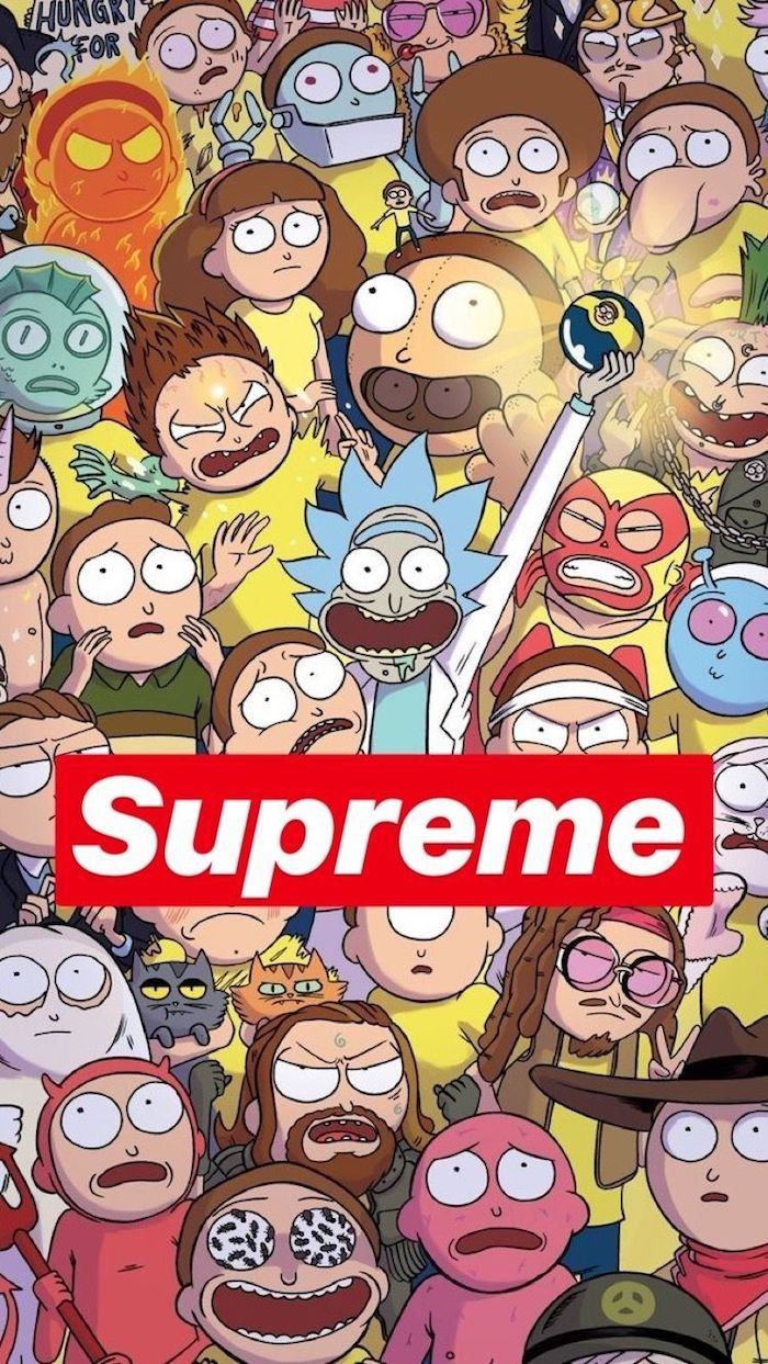 Image pour fond d'écran téléphone portable, Rick et Morty animation swag et mec swag, le style des jeunes cool