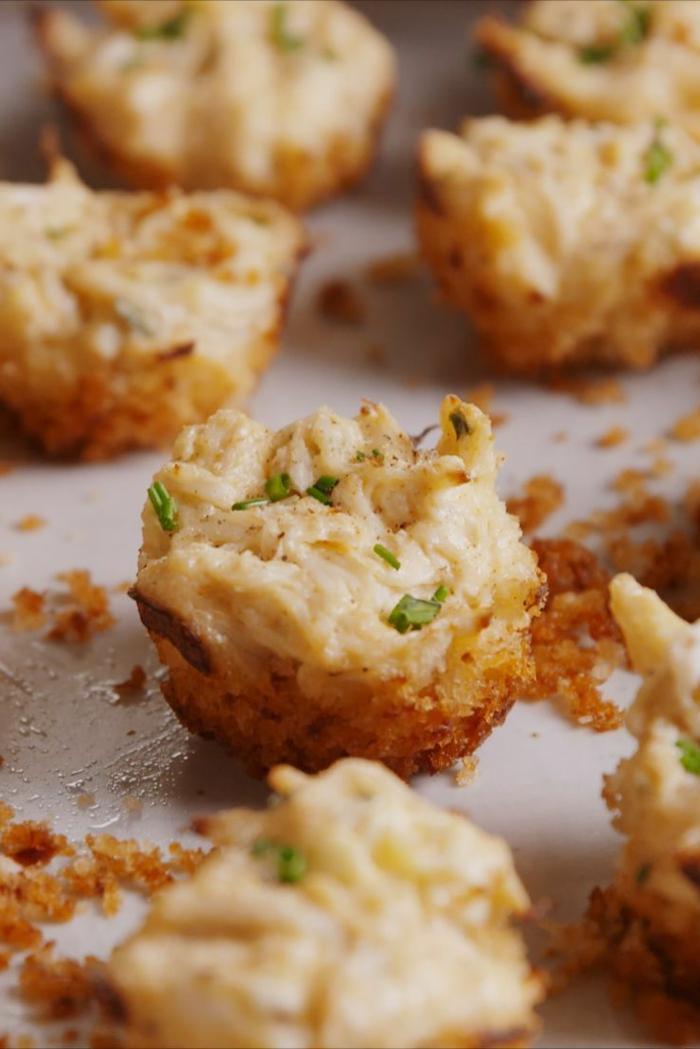 croquettes délicieuses, pommes de terre gratinées, poulet, herbes fraiches, recette apero dinatoire