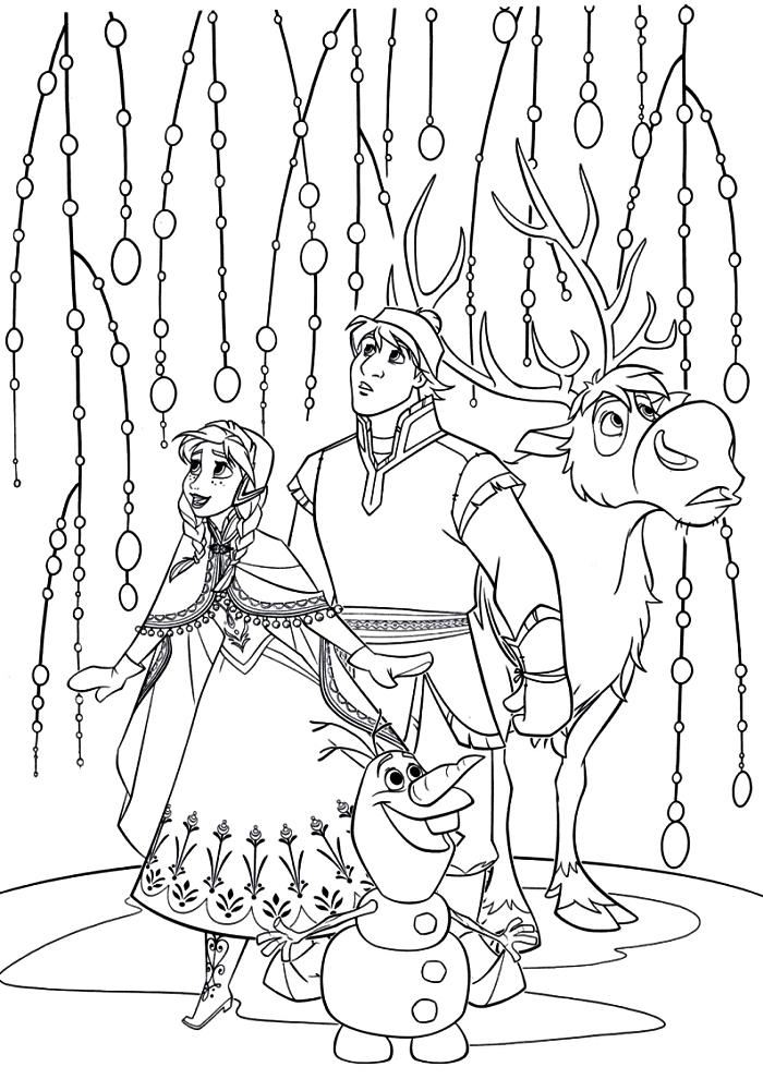 dessin a imprimer pour coloriage enfants, coloriage sur le thème la reine des neige, pages à colorier gratuites la reine des neige