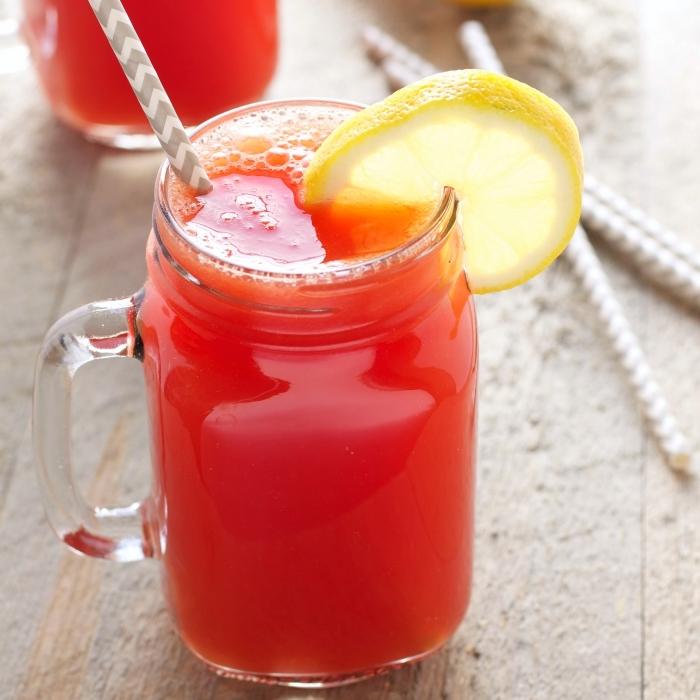 comment préparer une boisson sans sucre ajouté, idée recette boisson froide aux fruits et thé, ice tea maison