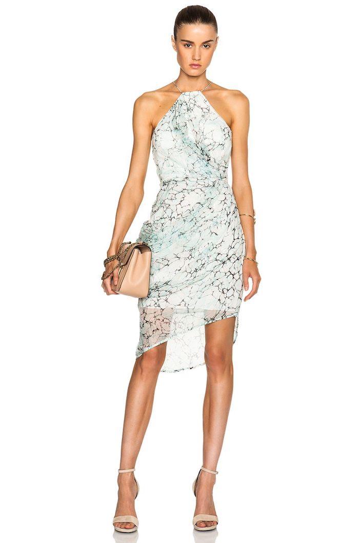 Longue robe de ceremonie, tenue pour assister à un mariage, cocktail robe magnifique